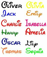 Personalized Disney Boys or Girls Name Deco Vinyl Wall Sticker Decal Bedroom N2