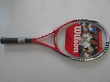 "NEW! Wilson Six.One Comp Tennis Racket! Racquet 4 1/2"" WRT32740U4 Red White"