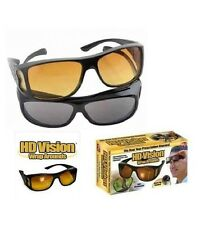 HD Vision Glasses Sunglasses Day & Night Driving Pack of 2