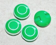1 lot de 4 boutons vintages pop vert liseret blanc 12mm mercerie couture button