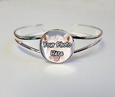 Personnalisé westie chien photo sur un plaqué argent bracelet bangle cadeau d'anniversaire