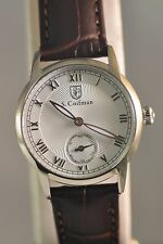 New Womens S. Coifman SC0345 White Dial Brown Leather Strap Watch