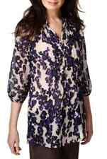 M&S Per Una Open Neck Collar Blurred Floral Blouse, SZ 16, Was £29.50, BNWT