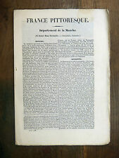 HUGO France Pittoresque  MANCHE Cotentin 1835 Avec carte & 5 gravures NORMANDIE
