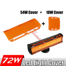 12'' 72W Amber Lens Cover for LED Work Light Bar Lamp 4WD Off-Road 9'' 54W + 18W