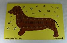Vintage Judy Instructo Alphabet Dog 26 Piece Wooden Educational Puzzle 1977