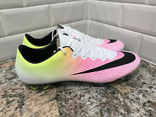 Nike Mercurial Vapor X FG Men Soccer Cleats Football White Volt 648553-107 SZ 12