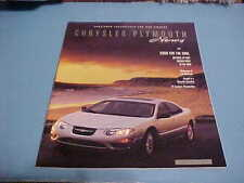 2001 CHRYSLER / PLYMOUTH DEALER BROCHURE