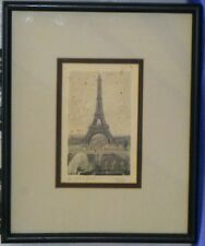 VICTOR VALERY  SMALL Etching PARIS 1900s Realism Eiffel Tower SIGNED FREE SHIP