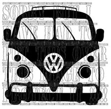 Silver VW Splitty split screen decal sticker vinyl graphic classic roof rack VAG