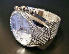 Franchi Menotti 9004 Swiss ETA Cronómetro-Swarovski Cristales & Malla Pulsera Reloj