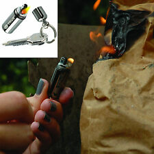 True Utility FIRE STASH KEYRING Waterproof Mini Survival Petrol Lighter, Gadget