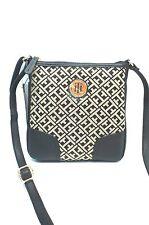 TOMMY HILFIGER Women's XBody Messenger Bag*Black Multi Shoulder Purse New $69