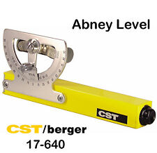 New CST/Berger 17-640 Grade Reading Abney Hand Level