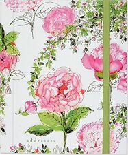Telephone and Address Book Large Pink White Floral Design Rose Women Girl Gift