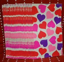 "Lot 23 Gift BAG RED Heart PINK BAGS Party Holiday 10.5"" x 6"" Bride LOVE Purple"
