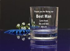 Personalised BEST MAN engraved Whiskey WEDDING favor gift anniversary gift 26