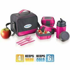 Lunch Box Bag Set for Adults and Kids ~ Pinnacle Insulated Leakproof Thermo Lunc