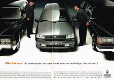 PUBLICITE ADVERTISING 035  1993  RENAULT CLIO BACCARA   ( 2pages)