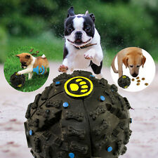 Funny Chew Ball Pet Dog Cat Food Dispenser Squeaky Giggle Quack Sound Teat Toy