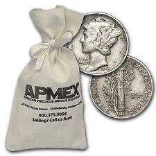 90% Silver Mercury Dimes - $100 Face Value Bag - Random Years -90 Percent Silver
