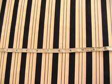 NAVY~WHITE STRIPE SUITING PREMIUM lt-weight cotton poly blend BY THE YARD x 61""