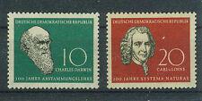 DDR Briefmarken 1958 Darwin - Linné Mi 631 und 632 **