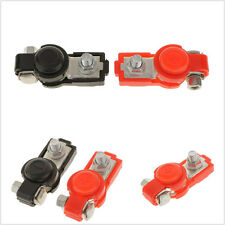 "Black & Red Car Adjustable Battery Terminal Clamp Clips Connecter Tool  ""+""&""-"""