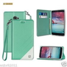 Mint Book-Style Folio Case w/Stand Cover for ZTE Max Duo LTE / Z963VL / Kirk