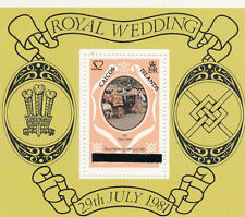 CAICOS ISLANDS 1981 ROYAL WEDDING $2 MINIATURE SHEET NEW YORK PRINTING MNH