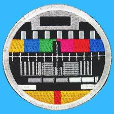TV Broadcast Test Retro Screen Embroidered Iron on Patch