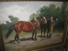 BLAAS Julius von, *1845  Der Pferdehändler   HAUPTWERK !!!!