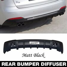 Dual twin muffler Rear Bumper Diffuser Matt Black for KIA 2013-2016 Forte Forte