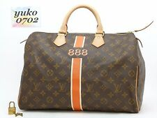 ry55226 Auth LOUIS VUITTON Monogram SPEEDY 35 Boston Hand Bag GHW M41524