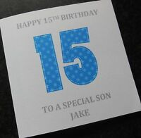 Personalised Boys Birthday Card Grandson/Nephew/Son etc ANY AGE (G39)