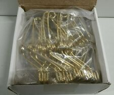 "20 PK Brass Finish 5.5"" Steel Stoddard Test Tube Clamps w/ Finger Grips TTCL03"