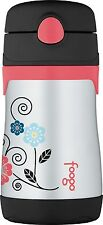 THERMOS FOOGO Vacuum Insulated Stainless Steel 10-Ounce Straw Bottle NEW