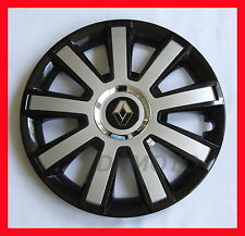 "16 ""  Wheel trims for Renault Trafic Megane Scenic 4 x16"" black silver universal"