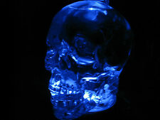 CRYSTAL HEAD SKULL VODKA COLLECTIBLE BOTTLE LIGHT STAND