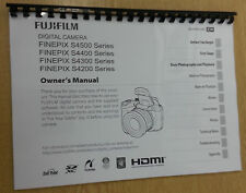 FUJIFILM S4500 S4400 S4200 FULLY PRINTED INSTRUCTION MANUAL USER GUIDE 147 PAGES