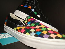 2014 VANS CLASSIC SLIP ON + SK8 HI XL HUICHOL BLACK WHITE RAINBOW TRIBE SET DS 9