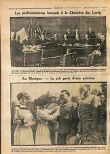Parliamentary Chambre des House of Lords London/Mexico General Obregon WWI 1916