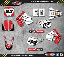 Honda CR 250 - 1988 1989 Full  Custom Graphic  Kit - REBOUND STYLE decals