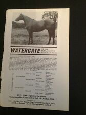 H8-1 Ephemera Advert 1967 The Burgage Stud Horse Watergate T C Vigors
