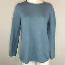 J Jill Ribbed Sweater S Small Women's Baby Blue Cotton Wool
