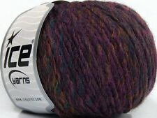 Lot of 8 Skeins Ice Yarns ALPACA COLORS (20% Alpaca 50% Wool) Yarn Maroon Pur...