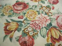Vintage Thomaston Percale Sheet Full Flat Bright Floral Pattern Cottage Chic