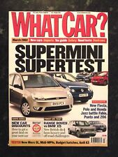WHAT CAR? MAGAZINE MAR-2002 - Merc SL500 R230, Range Rover, Fiesta, Honda Jazz