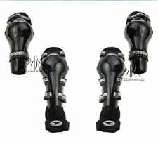 Biking Elbow & Knee Guard- Set Of 4 Pcs - AXO Riding Gear for Bikers