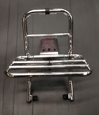 Rear / back carrier rack fold down in chrome for Vespa PX & LML by F.A Italia